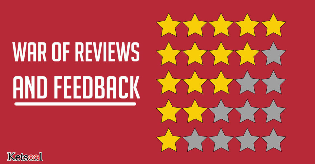 war of reviews and feedback